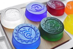 Chakra Soap by SkyRainSoap on Etsy https://www.etsy.com/listing/232980422/chakra-soap