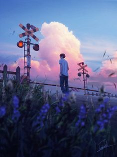 Kai Fine Art is an art website, shows painting and illustration works all over the world. L Wallpaper, Wallpaper Animes, Anime Scenery Wallpaper, Animes Wallpapers, Wallpaper Backgrounds, Aesthetic Art, Aesthetic Anime, Purple Aesthetic, Rin Okumura