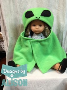 A personal favorite from my Etsy shop https://www.etsy.com/listing/250550257/alien-baby-capelet