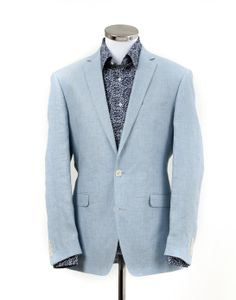 Blue Linen Jacket from William Young -love the colour combination