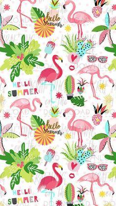 #wallpaper #wpp #papeldeparede #flamingo #abacaxi #tropical #tropica #verao #summer #sun Flamingo Wallpaper, Flamingo Art, Summer Wallpaper, Pink Wallpaper, Screen Wallpaper, Pink Flamingos, Mobile Wallpaper, Pattern Wallpaper, Wallpaper Backgrounds