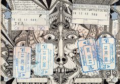 Licence to doodle: Artist uses passport pages as his canvas, in pictures - Telegraph