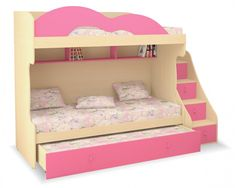 Patrová postel-sestava pro tři děti MIA - Nábytek INTENA