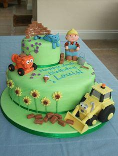 Bob the builder birthday cake recipe 2 Birthday Cake, 3rd Birthday Parties, Beautiful Cakes, Amazing Cakes, Bob The Builder Cake, Construction Theme Party, Occasion Cakes, Cakes For Boys, Cute Cakes