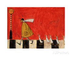 Crossing with Ducks Prints by Sam Toft at AllPosters.com
