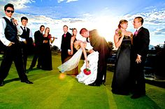 Golf Course Wedding Party