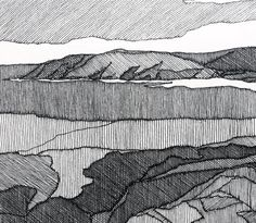 Sarah Woods documents the landscape through painting and printmaking.