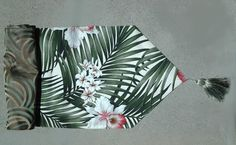 Shop our Hawaiian Home decor, Decorate your table with a Tropical Table runner, add some Pazazz Hawaiian Home Decor, Hawaiian Homes, Tropical Home Decor, Tropical Bedding, Beach Bedding, Tropical Table Runners, Polynesian Designs, Palm Fronds, Wedding Table Settings
