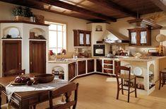Italienische Landhausküchen U2013 20 Charmante Gestaltungen. Mehr Sehen. Cocina  Rustica De Ladrillos En Blanco
