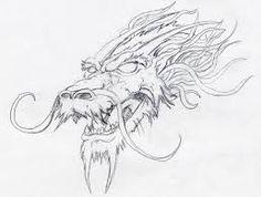Resultado de imagen para dibujos de cabezas de dragones a lapiz