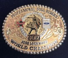 Accomplished something I've worked my whole life for. I can't say thank you enough to my wife, family, and my amazing sponsors for having my back all year. Being able to share it with Mack and just makes it that much sweeter. Country Belt Buckles, Custom Belt Buckles, Cowboy Belt Buckles, Rodeo Events, Professional Bull Riders, Trick Riding, Rodeo Cowboys, Rodeo Life, Cowboy Outfits