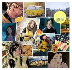 """Kitty Pryde"" by rainbowbaconcupcake ❤ liked on Polyvore featuring art"