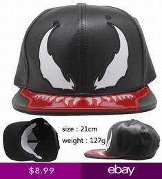 Marvel Comics Spider-Man Venom Mens Baseball Cap Hip Hop Snapback Hats Cap 967a50e34684