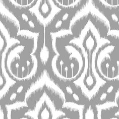 Ikat Damask - Gray Skies by pattysloniger, click to purchase fabric