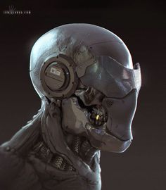 ArtStation - Cyborg Face sketch, Ian Llanas