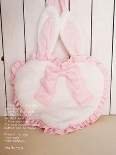 バッグ BABY bunny BAG (ピンク) oz rissa21 - ●までみゅ~-mademoiseryu-●ハンドメイドアクセサリー★スイーツデコ★デコ電★布小物★ハンドメイド総合shop