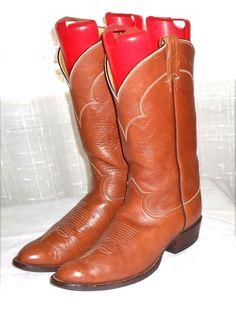 Tony Lama Black Label 5084 Men's Brown Leather Western Boot Made in USA Size 9 D #TonyLama #CowboyWestern
