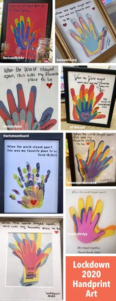 Handprint Art Discover Lockdown 2020 Handprint Keepsake Art Create a simple family handprint keepsake from the Lockdown of Use construction paper or painted hands. See examples. Family Art Projects, Family Crafts, Kid Projects, Toddler Art, Toddler Crafts, Kid Crafts, Preschool Crafts, Family Hand Prints, Bebe 1 An