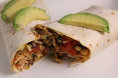 Black bean rice and corn burrito