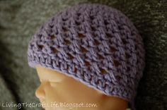 Living the Craft Life: Sweet and Textured Newborn Beanie - Free Pattern