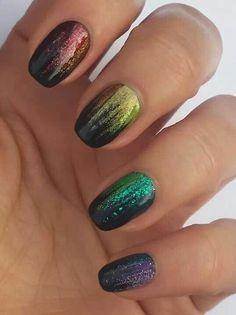 Black and rainbow