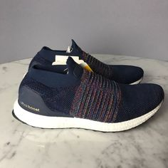 NEW Adidas Running Ultra Boost Laceless Navy Black White Men CM8269 LIMITED   Adidas  RunningCrossTraining  Laceless  UltraBoost  MyTopSportsHouse 977395cf3