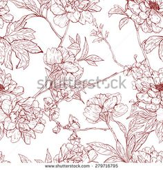 Vector seamless floral pattern with flowers.