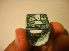 This tutorial video will show you how to make a dollar bill origami fighter jet. Very easy steps! Learn how to fold this simple origami model. All you need is a dollar and some origami skills. Origami Ring, Origami Shirt, Origami Wedding, Oragami, Heart Origami, Origami Cube, Origami Bow, Origami Gifts, Fold Dollar Bill