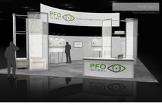 PFO Trade Show Exhibit Rental - Check EXHIBITMAX Trade Show Rental, if your needs require a custom designed and built trade show booth Exhibition Booth Design, Show Booth, Modular Design, Trade Show, Custom Design, Display, Budget, Branding, Restaurant