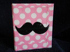 Pink Polka Dot Mustache Duck Tape Wallet.