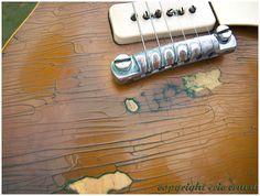 Beautiful patina on a 1954 Gibson Les Paul Standard Goldtop.