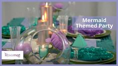 Welcome to our new video! Channel your inner Ariel with this mermaid themed party décor! This DIY tablescape can be recreated in your living room or backyard to create an underwater vibe your guests will enjoy. To achieve this look, you'll need our sequin curtains, satin table runners, beaded charger plates, honeycomb decorations, seashell favor boxes, pearl beads, confetti table dots, votive candle holders and more! Honeycomb Decorations, Hanging Decorations, Table Decorations, Backdrops For Parties, Wedding Backdrops, Wedding Ideas, Sequin Curtains, Purple Wedding Decorations