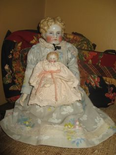 my new Parian dolls - china dolls