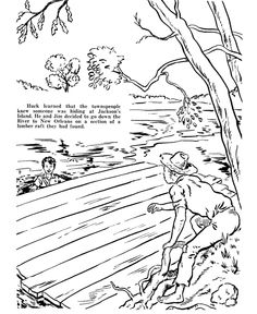 Huckleberry Finn Coloring pages Huck and Tom Sawyer and