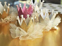 Arco del pelo de brillo corona Clips de oro por MemorableWedding