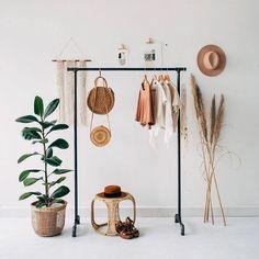 8 Minimalist Bedroom Decor Ideas by Etsy - Minimalism # Idea . - 8 Minimalist Bedroom Decor Ideas by Etsy – Minimalism - Bedroom Hacks, Home Decor Bedroom, Bedroom Furniture, Budget Bedroom, Modern Bedroom, Furniture Sets, Boutique Interior, Garment Racks, Rack Design