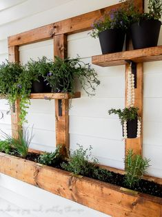 vertical wall planter | vertical garden | vertical gardening | herb garden | vertical herb garden | diy herb garden | diy vertical garden | diy planters | small space living | small space gardening | wall planter | outdoor patio ideas | balcony garden | apartment garden | hanging wall planters | outdoor wall planter hanging herb garden #herbgardendiy