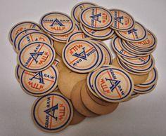 Vintage Lot of 50 Milk Caps Cardboard Milk Caps by dorothybroome