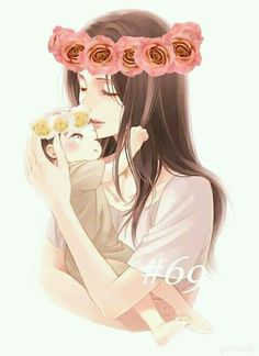 mom anime and baby anime (notitle) Mother And Daughter Drawing, Mother Art, Bebe Anime, Arte Com Grey's Anatomy, Anime Pregnant, Pregnant Mom, 3d Foto, Anime Siblings, Pregnancy Art