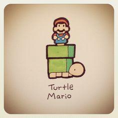 Turtle Mario #turtleadayjune - @turtlewayne- #webstagram