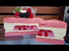 Tort Entremet cu mousse de ciocolată albă și mousse de căpșuni | Pasiune &Savoare - YouTube Vanilla Cake, Cheesecake, Deserts, Ice Cream, Mousse, Food, Google, Youtube, Recipes