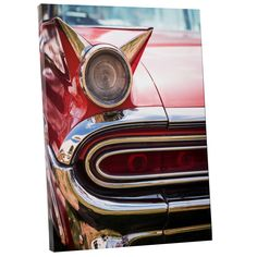 Pop Art 'Vintage Red Car' Gallery Wrapped Canvas Wall Art x Buy Canvas, Canvas Wall Art, Modern Pop Art, Fall Mantel Decorations, Vintage Frames, Online Art Gallery, Wrapped Canvas, Gallery Wall, Artwork