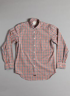 Rust Charcoal Gingham || Billy Reid
