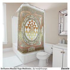 SriYantra Mandal Yoga Meditation Shower Curtain