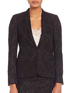 The Kooples Jewel Buttoned Lace Jacket