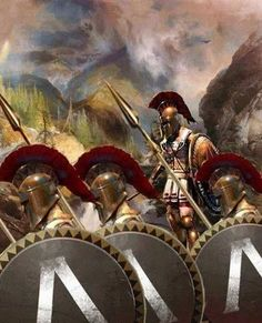 Φωτογραφία: An exceptional digital reconstruction of a Spartan phalanx as it prepares for battle by artist, Cliff Nielsen.  If you will notice the overlapping shields, where the warrior would use half of his shield to protect his countryman to his left. The warrior to the right was partially unprotected...this was known as the 'position of honor' since the hoplite who stood there would be the best and who wouldn't flinch in fear. It was also the part of the phalanx which was most…