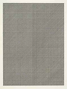 50/50 III - Ink on paper - Tauba Auerbach