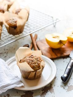 Applesauce Chia Muffins - a better way to start your day! Packed with protein from Greek yogurt and chia seeds, and deliciously apple spiced. Muffin Recipes, My Recipes, Bread Recipes, Recipes Dinner, Fall Recipes, Breakfast Time, Breakfast Recipes, Breakfast Ideas, Applesauce Muffins