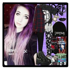 """""""Ghost town FOTW set for Katlanacross!"""" by chemicalfallout249 ❤ liked on Polyvore featuring Hot Topic, Tripp, Rails, Steve Madden and Jeffrey Campbell"""