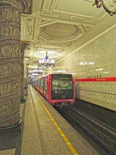 St Petersburg, Prettiest Metro Station. Avtovo. Photographer:Ruslan-Khvorykh